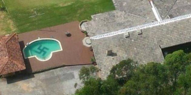 Brésil: découverte d'une immense croix gammée au fond d'une piscine