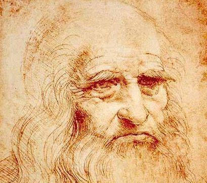 Autoportrait de Léonard de Vinci réalisé