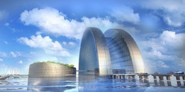 Un gigantesque hôtel flottant, le Silver Pearl, construit pour la Coupe du monde de 2022 au Qatar