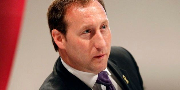 Canada's Minister for National Defense Peter Gordon MacKay speaks at the Institute for Strategic Studies, or IISS Shangri-la Security Summit, Sunday June 3, 2012 in Singapore. (AP Photo/Wong Maye-E)