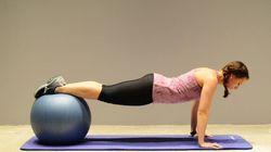9 exercices à essayer avec un ballon stabilisateur