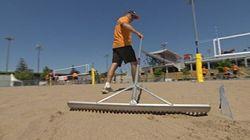 Au volleyball, le sable, c'est sérieux!