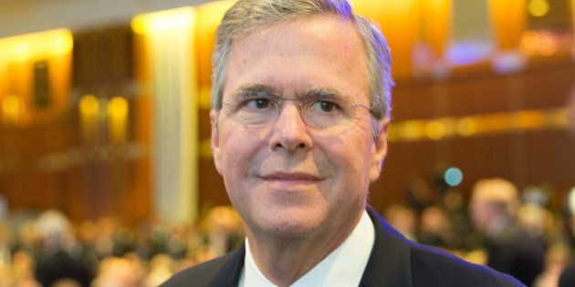BERLIN, GERMANY - JUNE 09: Former Florida Governor and possible Republican presidential candidate Jeb...