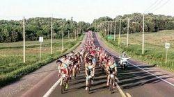 Les 1000 cyclistes du Grand défi Pierre Lavoie sont arrivés
