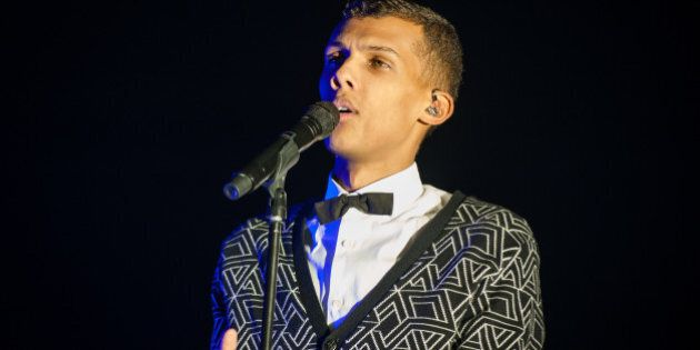 LONDON, ENGLAND - DECEMBER 09: Stromae performs on stage at Eventim Apollo, Hammersmith on December 9,...