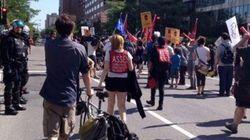 Manifestation en marge du congrès du
