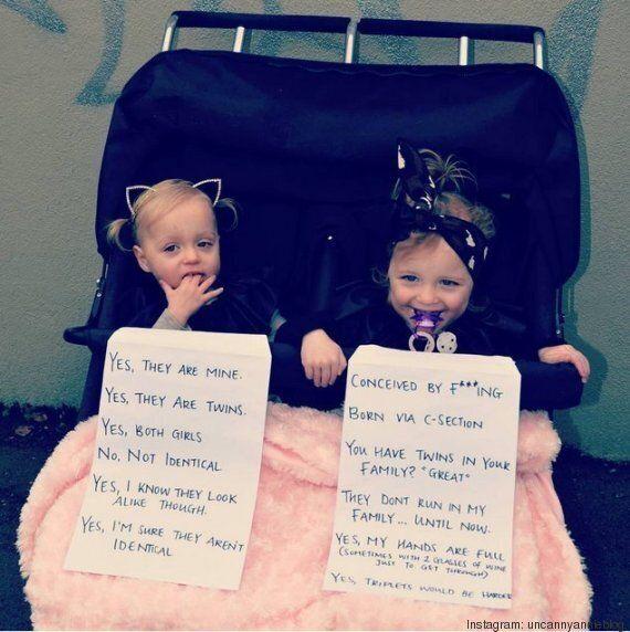 Cette maman de jumelles a trouvé une réponse hilarante aux questions d'inconnus qu'elle est fatiguée