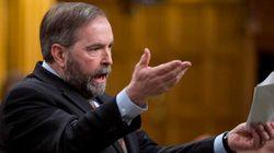 Pensionnats autochtones: Mulcair veut que Harper réclame des excuses au