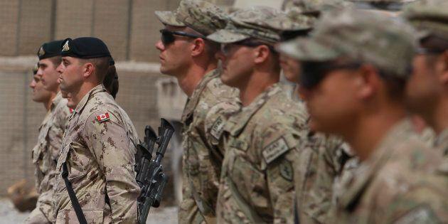 Des soldats du 1er bataillon du Royal 22e Régiment en Afghanistan, le 5 juillet