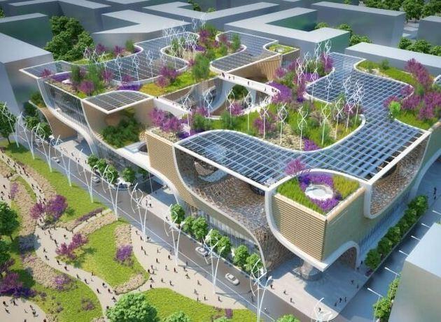 Le centre commercial éco-responsable du futur imaginé par l'architecte belge Vincent Callebaut