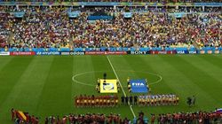 Mondial-2014 - Match Belgique-États-Unis: un spectateur pénètre sur le terrain