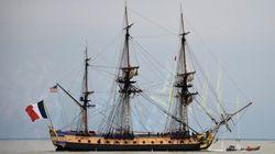 «L'Hermione» arrive vendredi à Yorktown mais respire déjà l'air de l'Amérique