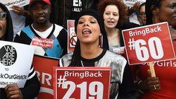 Alicia Keys à une manifestation pour les écolières nigérianes