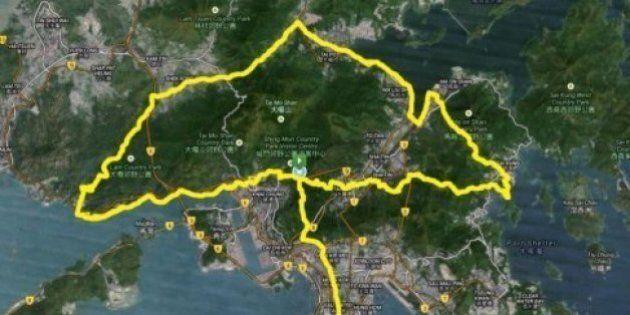 Manifestations à Hong Kong: un ultra marathon en forme de parapluie pour soutenir la révolte un mois