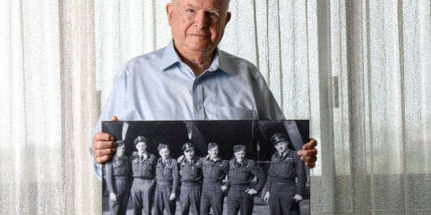TORONTO, ON - AUGUST 25: TORONTO, ON - Nathan Isaacs, a 90-year-old WWII veteran who flew 35 missions...