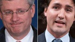 Harper et Trudeau en mode séduction au