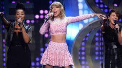 Taylor Swift en vedette à Times Square au jour de