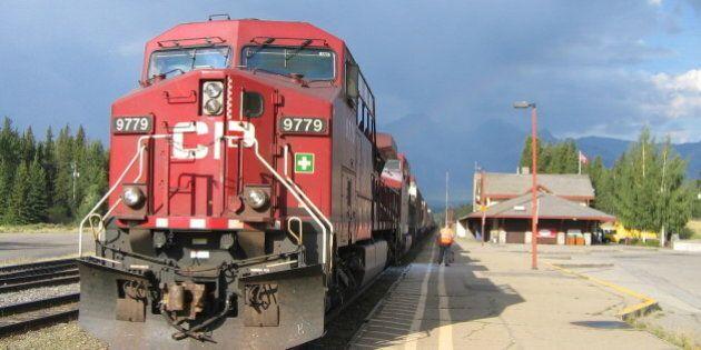 Canadien Pacifique en gare de Banff