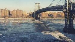New York paralysée par le froid offre des paysages splendides