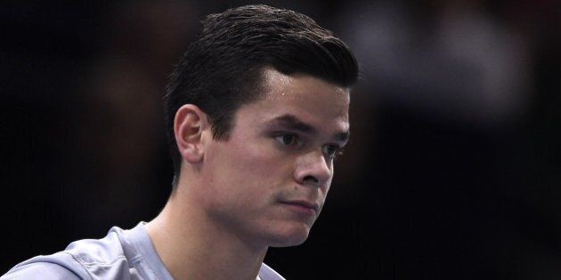 Canada's Milos Raonic is pictured during the final match against Serbia's Novak Djokovic at the ATP World...