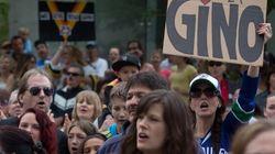 Des dizaines de fans se rassemblent pour Gino Odjick