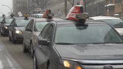 Les taxis manifestent contre Uber-X à