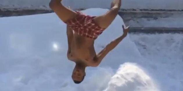 #BostonBlizzardChallenge: les habitants de Boston n'ont vraiment pas froid aux yeux (ni