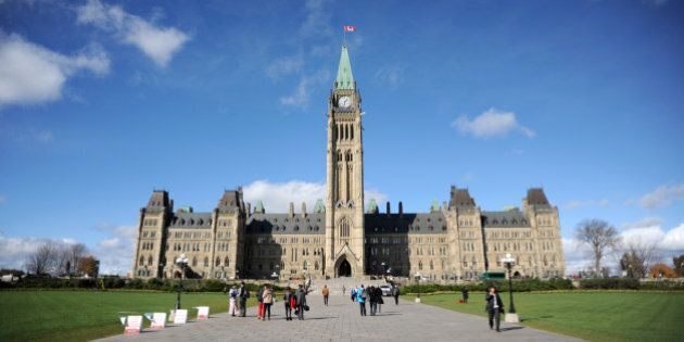 A general view of the Canadian Parliament Building in Ottawa.