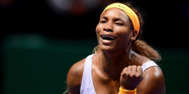 ISTANBUL, TURKEY - OCTOBER 26: Serena Williams of US reacts during the TEB BNP Paribas WTA Championships...