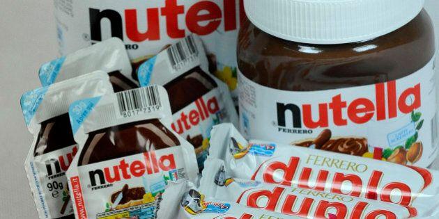 Ferrero SpA's Duplo, Fererro Rocher, Nutella, Mon Cheri and Pocket Coffee chocolate products are arranged...