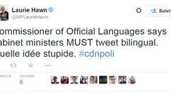 Bilinguisme sur Twitter : « stupide », selon un