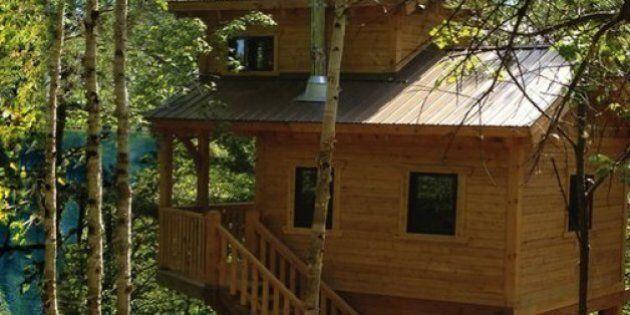 Des cabanes dans les arbres à Tremblant pour du prêt-à-camper