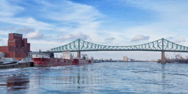 Montreal's St.Lawrence river and Jacques-Cartier