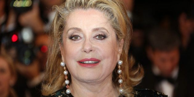 Catherine Deneuve arrives for the screening of In the Name of my Daughter (L'homme qu'on aimait trop)...