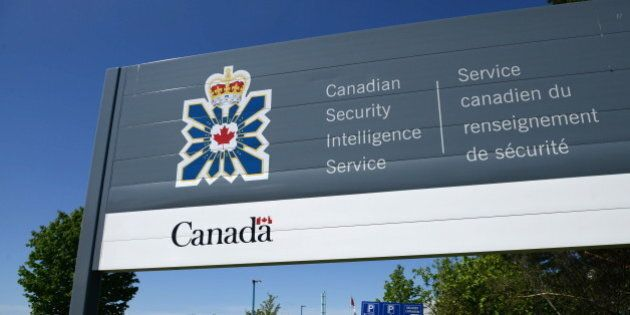 A sign for the Canadian Security Intelligence Service building is shown in Ottawa, Tuesday, May 14, 2013....