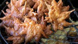 Des feuilles d'érable frites... au