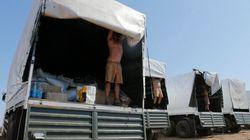 Le convoi russe pour l'Ukraine ouvre quelques-unes de ses