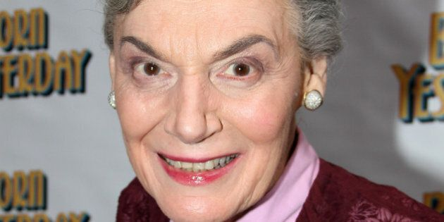 NEW YORK, NY - APRIL 24: Marian Seldes poses at The Opening Night of 'Born Yesterday' on Broadway at...