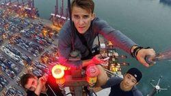 Il se photographie au sommet des plus grands bâtiments de Hong Kong (VIDÉOS,