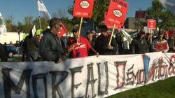 Moreau accueilli par une manifestation à Laval
