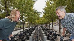 Sur la piste cyclable -