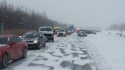 L'autoroute 20 bloquée près de Drummondville