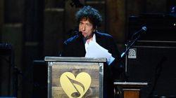 Bob Dylan prononce un rare long discours à la soirée