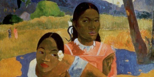 Nafea Faa Ipoipo (When Will You Marry?), a 1892 oil on canvas by French artist Paul Gauguin, is one of 26 Impressionist and modern paintings from the collection of Swiss businessman Rudolf Staechelin on display in Fort Worth, Texas. (AP Photo/Artothek)