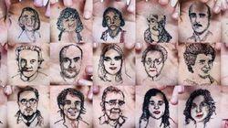 Un artiste espagnol coud des portraits dans sa