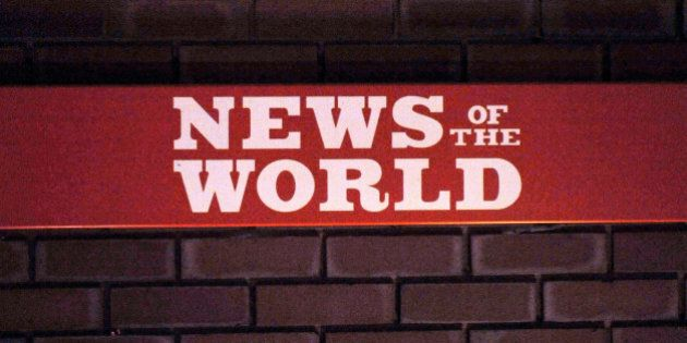A sign for the News Of The World at the News International plant in Wapping, east London.