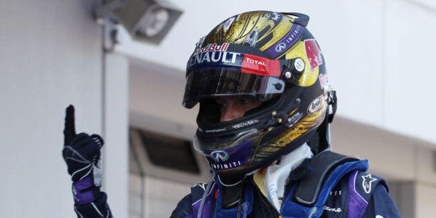Race winner Sebastian Vettel (GER) Red Bull Racing celebrates in parc ferme.German Grand Prix, Sunday...
