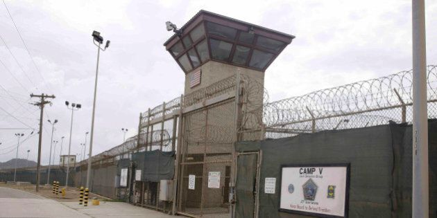 The entrance to Camp 5 and Camp 6 at the U.S. military's Guantanamo Bay detention center, which President...