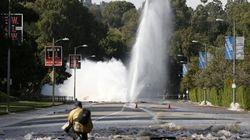 Un geyser de neuf mètres sur un