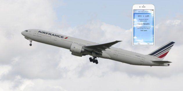 Une application iPhone calcule la probabilité que votre avion a de